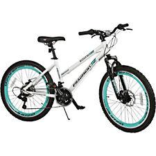 "White Mountain Bike 24"" Inch 21 Speed Lightweight Womens Teens Knobby Tires"