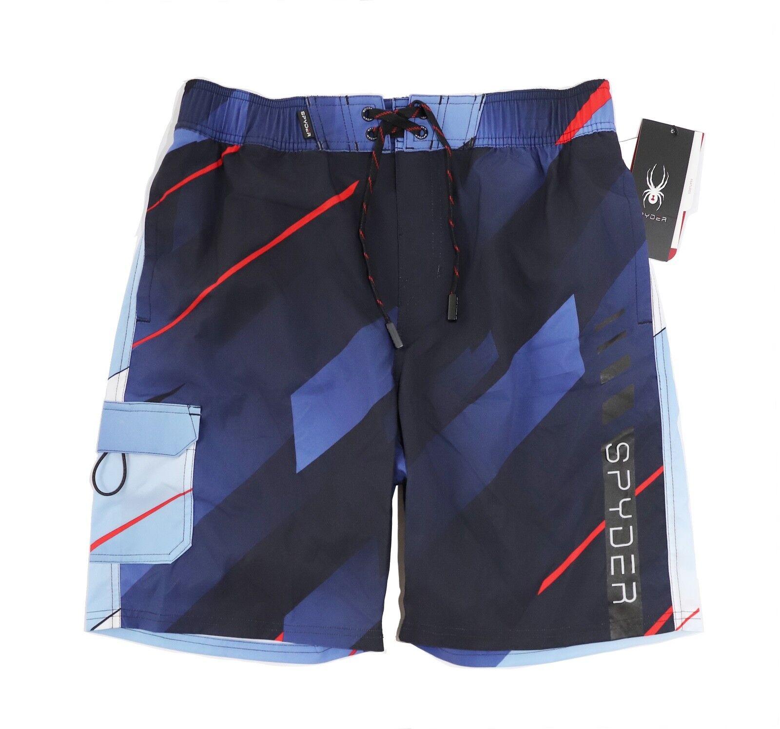 Spyder - Men'S S - NWT - 9  Navy Multi Captain Logo Board Shorts Swim Trunks