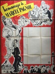 Affiche-HOMMAGE-A-MARCEL-PAGNOL-Marius-Cesar-Raimu-DUBOUT-120x160cm
