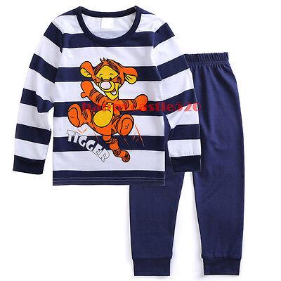 Baby Boy Kids Nightwear T-shirt Top+Pants Pajamas Set Clothing Tigger Winnie