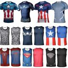 Men Superhero Casual Sleeveless Vest Tank Top Short Sleeve T-Shirt Sport Jersey