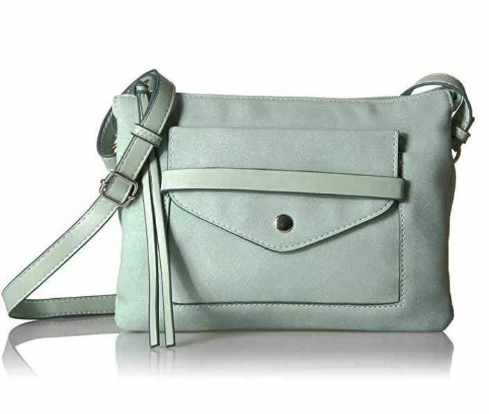 T-Shirt & Jeans Multi Compartment Front Pocket Cross Body, Mint