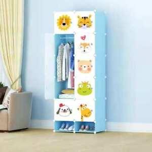 10-Cube-Closet-Wardrobe-Modular-Storage-Organizer-Clothes-Kids-Furniture-Shoe