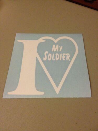 I Love My Soldier W//Heart Vinyl Die Cut Decal,Car,Truck,Window,laptop,military