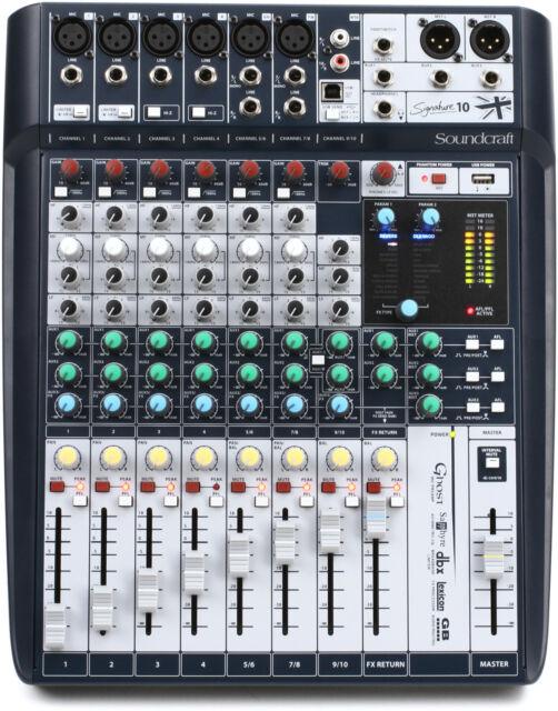 New Soundcraft Signature 10 USB Mixer Authorized Dealer!