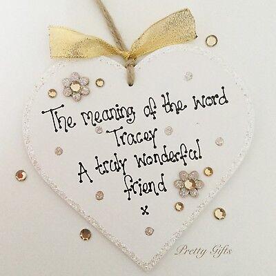 Personalised Best Friend Heart Plaque Keepsake Birthday Christmas Gift Handmade