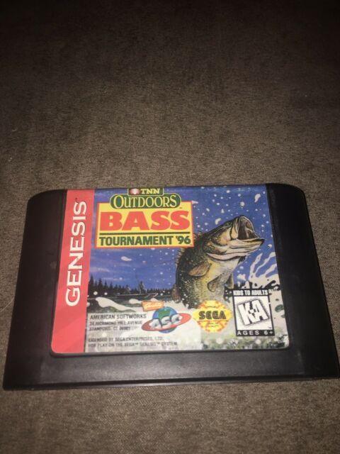 TNN Outdoors Bass Tournament '96 (Sega Genesis, 1996) TESTED- CART ONLY