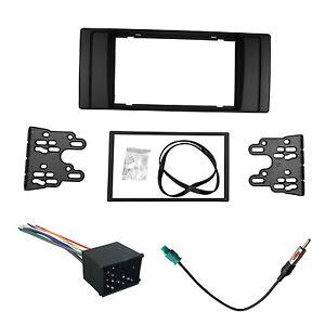 radio fascia for bmw e39 e53 2 din stereo panel dvd dash. Black Bedroom Furniture Sets. Home Design Ideas