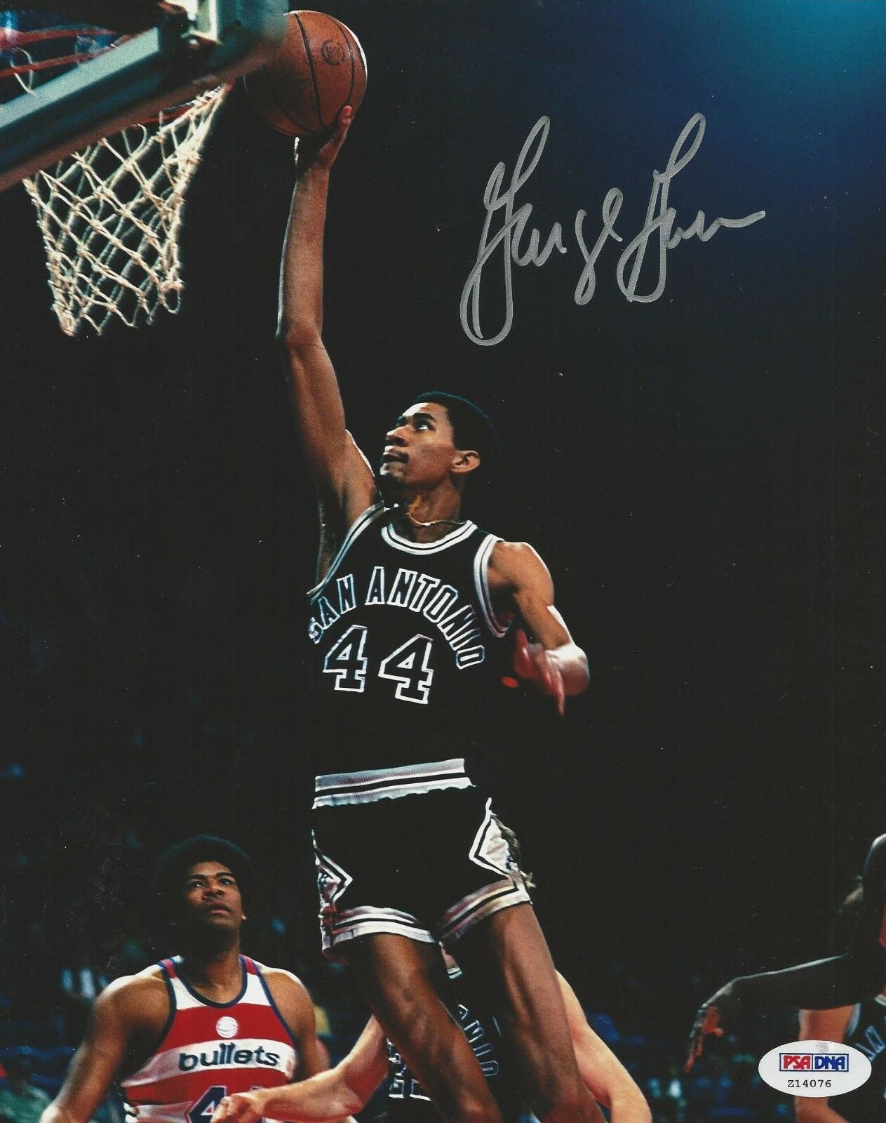 George Gervin signed 8x10 photo PSA/DNA # Z14076