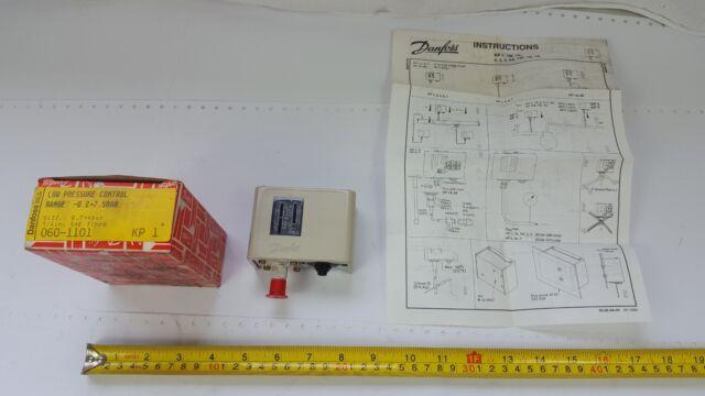 Danfoss KP1 Low Pressure Control -0.2-7.5bar 1/4-inch SAE flare 060-1101 - New