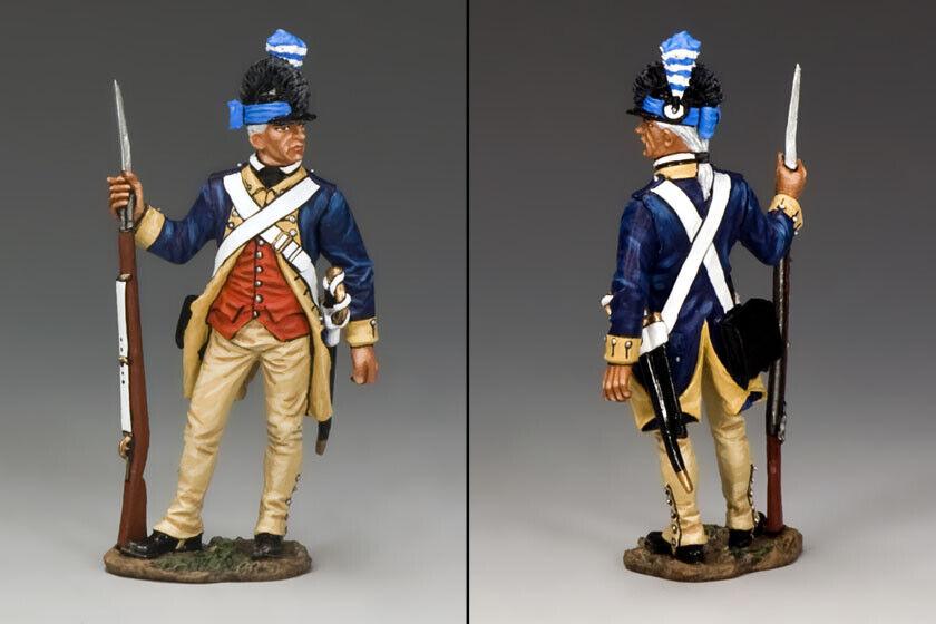 KING & COUNTRY AMERICAN REVOLUTION AR073 CONTINENTAL GUARDSMAN CORPORAL MIB