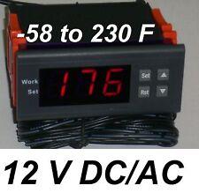 Mini Temperature Controller Temp Thermostat Heat Cold F 12v Dcac Fahrenheit