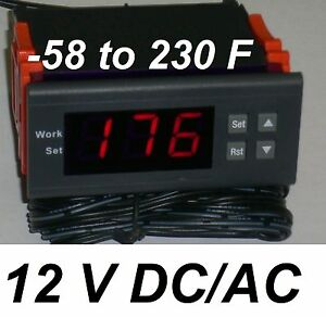 Mini Temperature Controller Temp Thermostat Heat Cold ºF 12V DC/AC Fahrenheit