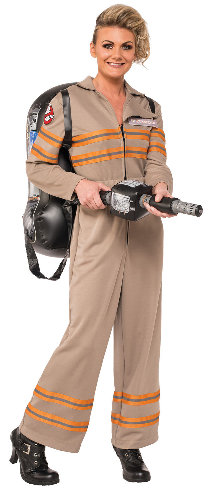 Ghostbusters Deluxe Adult Womens Jumpsuit With Inflatable Backpack Costume