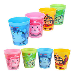 Robocar poli roi amber heli kids cup 4p set boys korea animation cartoon ebay - Robocar poli heli ...