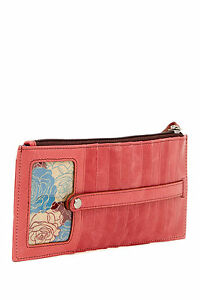Hobo-International-Kimi-Card-Case-Leather-Wristlet-Wallet-Rosewood-New