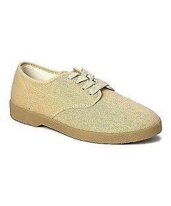 Zig Zag Canvas Oxford Shoes Beige Winos