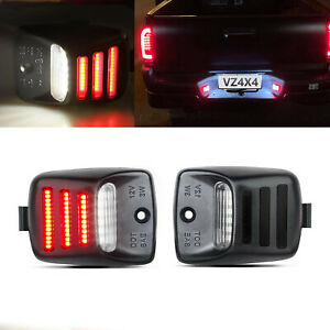 RED OLED TUBE LED License Plate Lights Rear Bumper Lamp For Toyota Tacoma Tundra