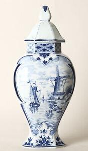 Delft-Amphore-Deckelvase-Windmuehle-Segelschiff-H-37-5-cm-159676-20