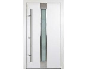 Aluminium Haustur Weiss Anthrazitgrau Modell Aaron Verschied Masse Ebay