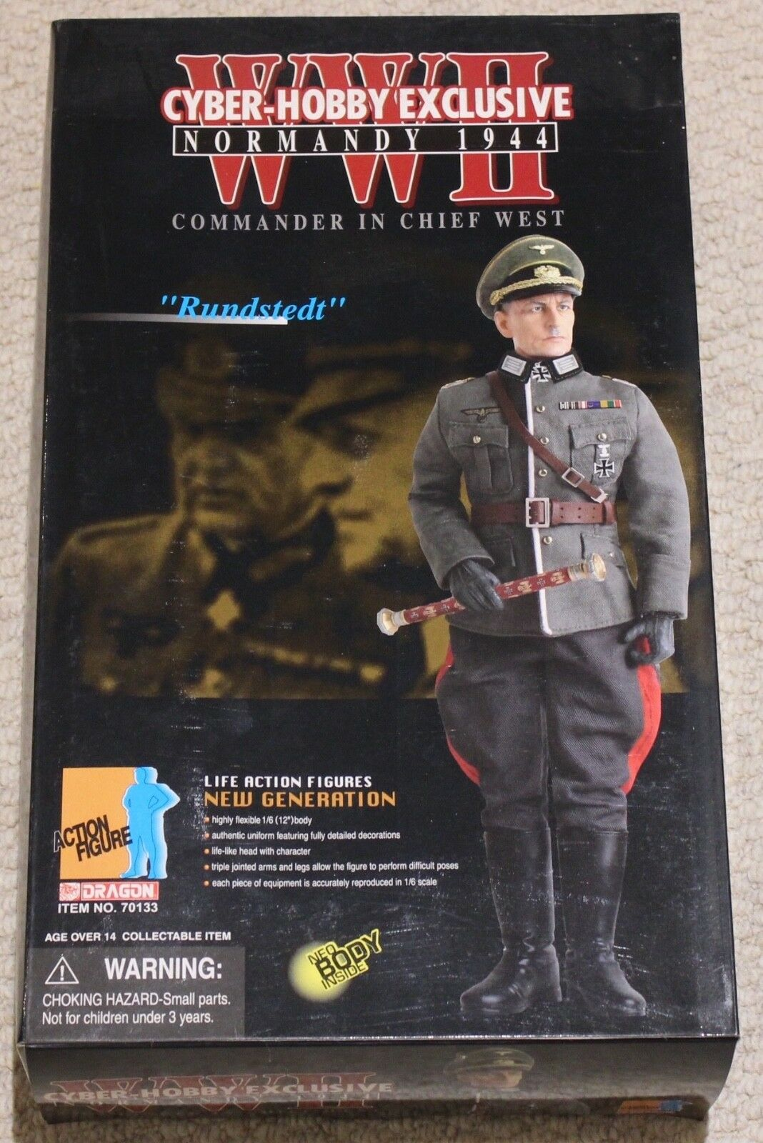 Dragon action figure 1/6 ww11 german rundstedt 12'' boxed did cyber hot toy