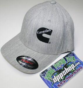 Cummins diesel cummings flexfit hat ball cap fitted flex fit grey L ... bcd4c067ef27