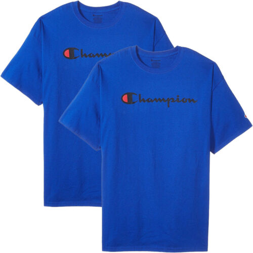 S-XL Champion Men/'s Classic Jersey Script T-Shirt Limited Edition 2 PACK