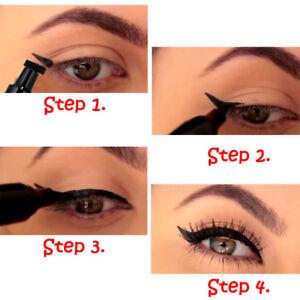 Image Is Loading Beauty Makeup Black Eyeliner Stamps Cat Eye Wing