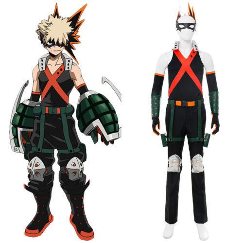 My Hero Academia Boku no Hero Akademia Katsuki Bakugou Cosplay Costume