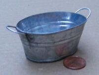 1:12 Scale Extra Large Oval Empty Metal Bowl Tub Bath Dolls House Fairy Garden