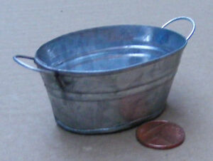 Vasca Da Bagno Extra Large : 1:12 scale extra large oval empty metal bowl tub bath dolls house