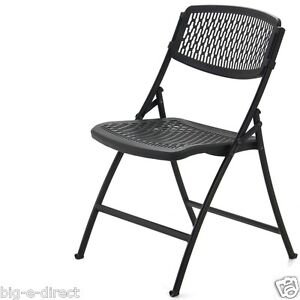 BLACK MITY LITE FLEX ONE FOLDING CHAIR INDOOR OUTDOOR EVENT DINING TABLE CHAIRS