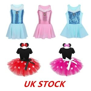 UK-Kids-Girls-Princess-Dress-Sequined-Ballet-Leotards-Tutu-Skirts-Fancy-Costumes