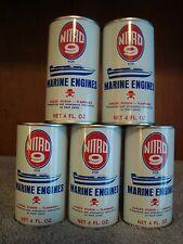 5-Vintage Nitro 9 for Marine Engines Metal Additive Can 4 Oz