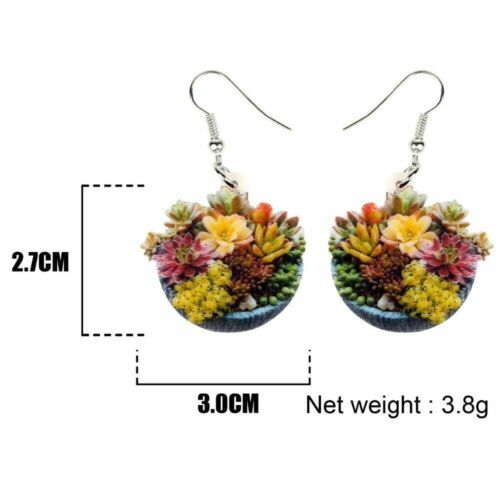 Succulent Plant Bonsai Earrings Drop Dangle Plant Jewelry For Women Girl Gift