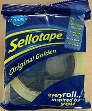Sellotape Original Golden Sticky Tape Strong And Extra Sticky Adhesive Tape