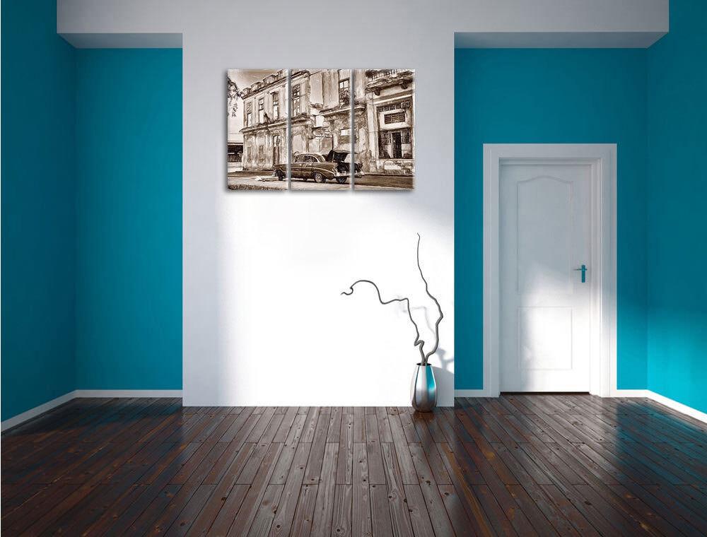Die Calles la Habana Arte Arte Habana Varilla Colorida Efecto 3-Teiler Foto en Lienzo 8a164f