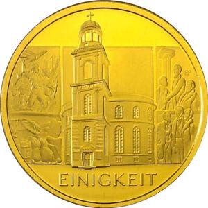 Goldmuenze-Saeulen-der-Demokratie-100-Euro-Einigkeit-2020-Praegebuchstabe-A-im-Etui