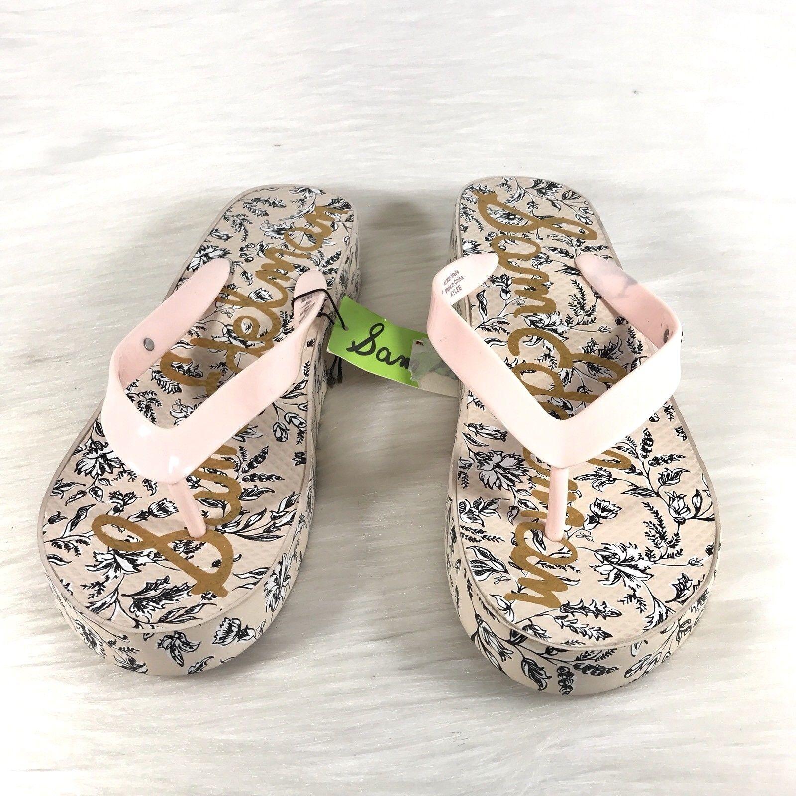 Sam Edelman Kylee Women's Women's Women's Thong Sandals Pink Floral Size 9 M New 6a6ad4