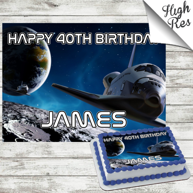 Cool Nasa Space Shuttle Discovery Cake Topper For Sale Ebay Personalised Birthday Cards Vishlily Jamesorg