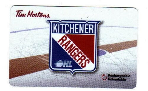 2017//18 Tim Horton/'s Kitchener OHL Rangers Tim Gift Card No Value