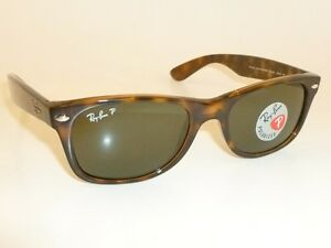 e16d911b65 RAY BAN New WAYFARER Brown Frame RB 2132 902 58 Glass POLARIZED 55mm ...