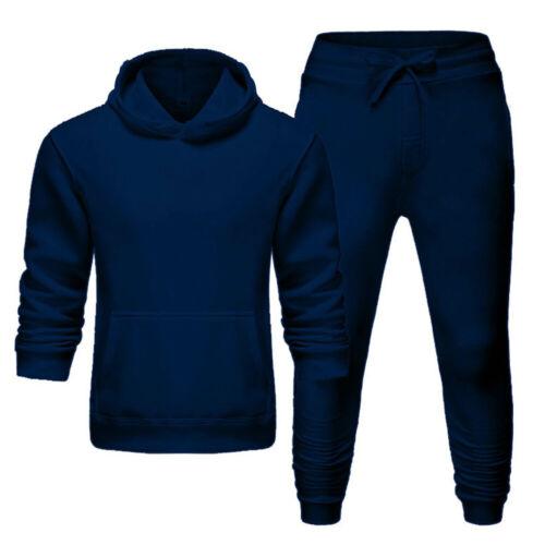 Details about  /Men Women Tracksuit Pullover Hoodie Pants Set Jogger Solid Sweat Suit Loungewear