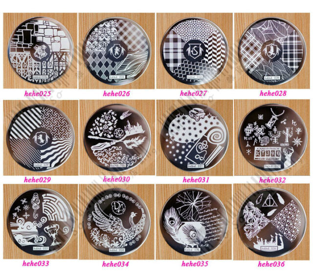 Nail Art Stamp Stamping Image Template Plate HEHE Series 2 (25-36) *** NEW ***