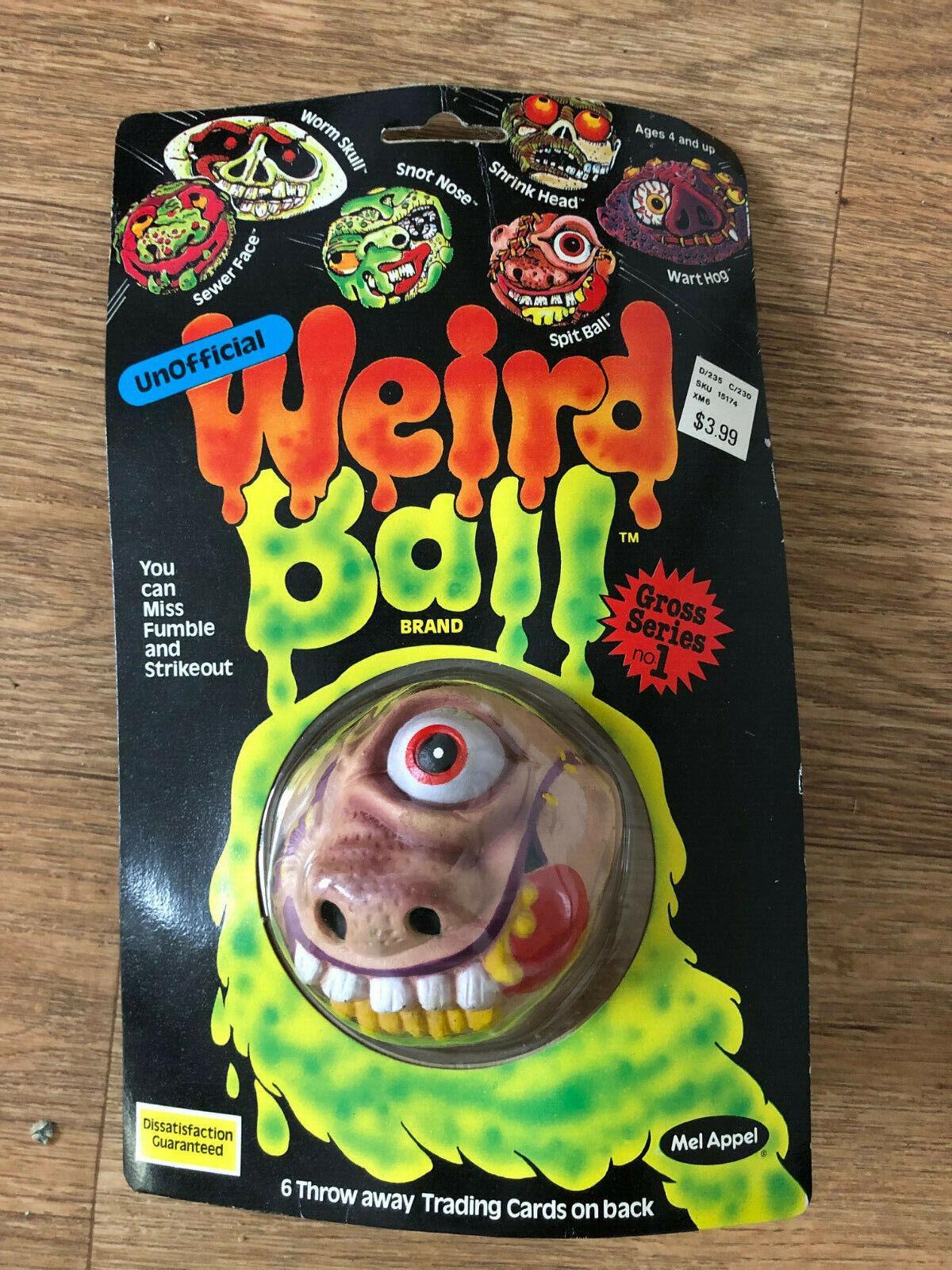 Vintage WEIRD BALL 1986  Mel Appel  unopened on Coched