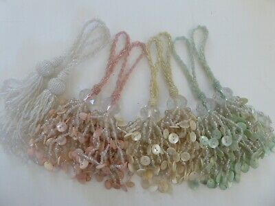 LAURA ASHLEY BEADED AURELIA KEY TASSELS X2