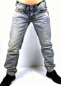True-Religion-249-Men-039-s-Geno-Relaxed-Slim-Red-Orange-Big-T-Jeans-101110