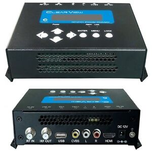 New-ClearView-HD1010-Single-HD-Digital-Modulator-MPEG4-HDMI-amp-CVBS-Inputs