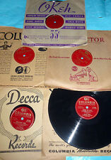 """Dinah Shore 5X10"""" 78 rpm Lot TEA FOR TWO, MAMA DO I GOTTA, SOONER OR LATER Nice"""