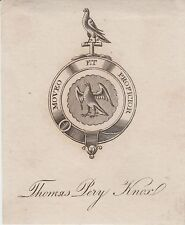Ex-libris (Bookplate) Thomas Pery KNOX (1805-1893) - Angleterre.